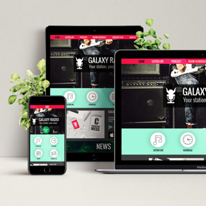 Web design - Galaxy radio